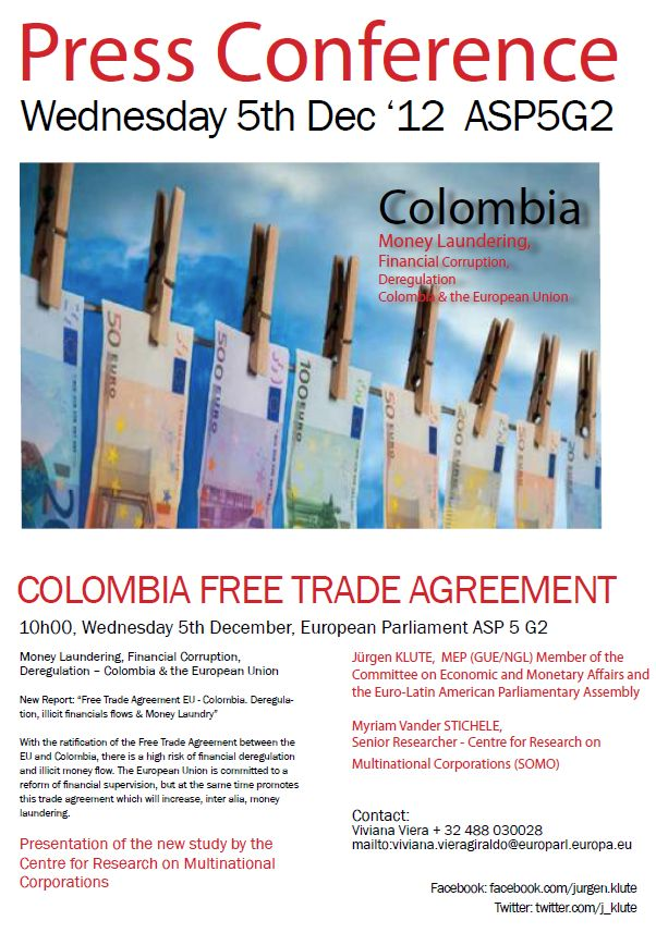 Serious Risks In Free Trade Agreement Between Eu Colombia And Peru 1