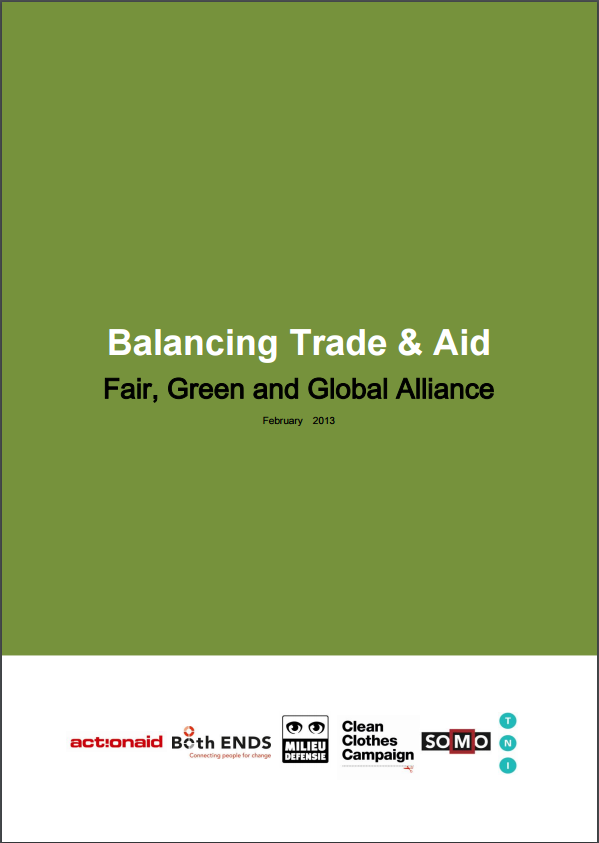 publication cover - Balancing Trade and Aid