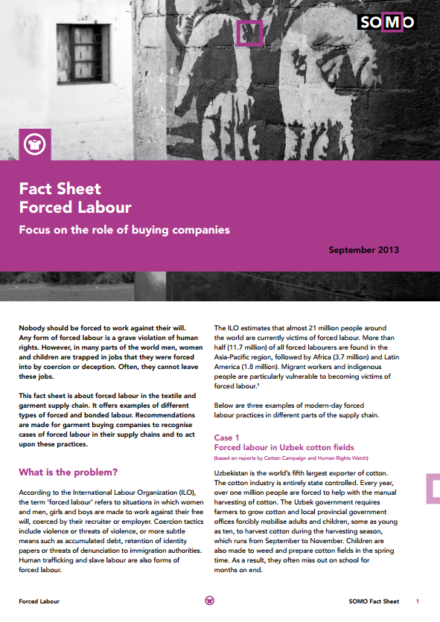 publication cover - Fact Sheet: Forced labour