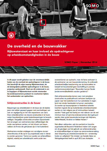 publication cover - Social risks at government construction projects