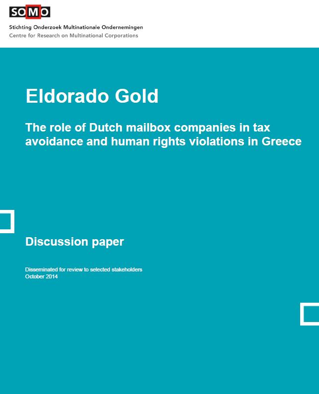 publication cover - Discussion Paper on Eldorado Gold