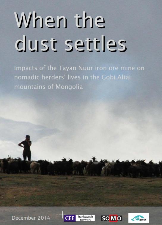 publication cover - When the dust settles