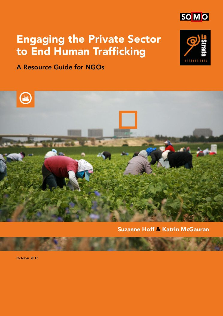 publication cover - 'Engaging the Private Sector to End Human Trafficking'