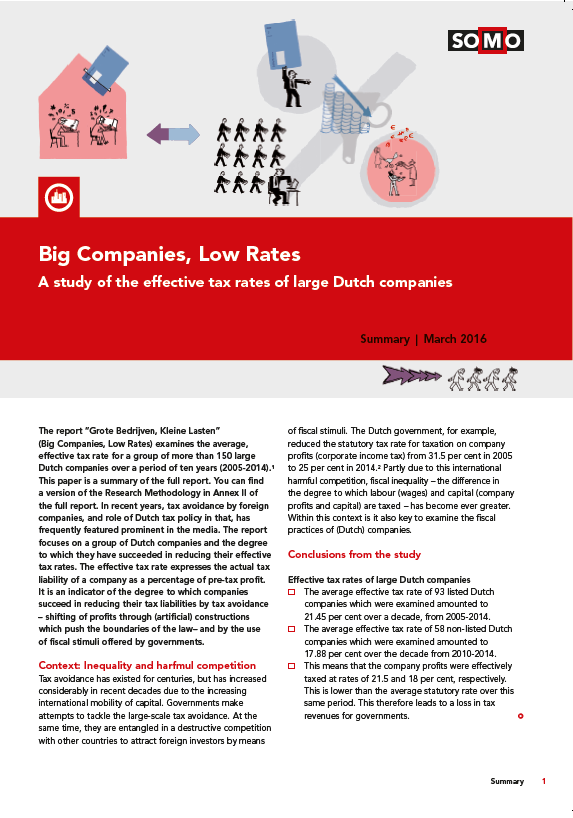 publication cover - Big Companies, Low Rates