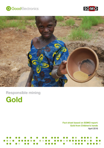 publication cover - Responsible Mining: Gold