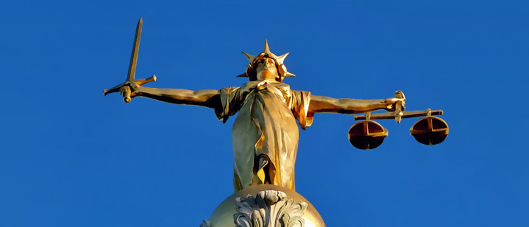 Lady Justice on the Old Bailey in London