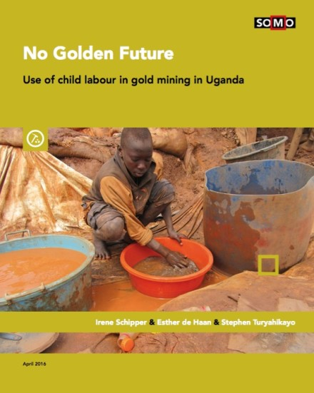 Cover of SOMO's publication 'No Golden Future: use of child labour in gold mines'