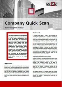 SOMO Company Quick Scan