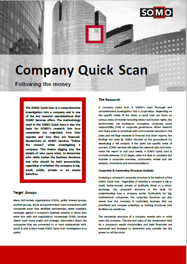 publication cover - Company Quick Scan