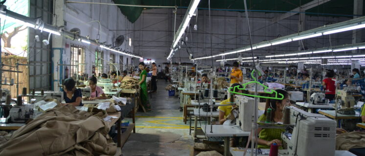 A Myanmar garment factory.