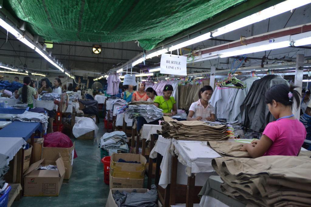 Garment factory in Myanmar.