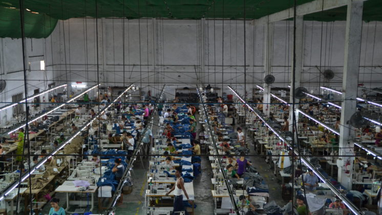 Garment factory in Myanmar.