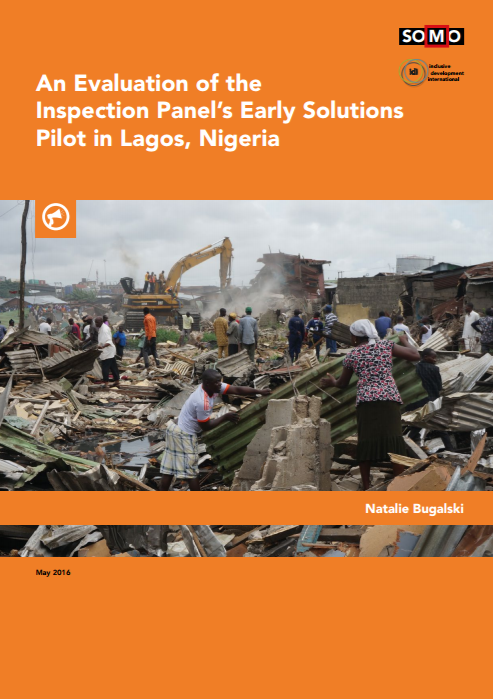 publication cover - An Evaluation of the Inspection Panel's Early Solutions Pilot inLagos, Nigeria