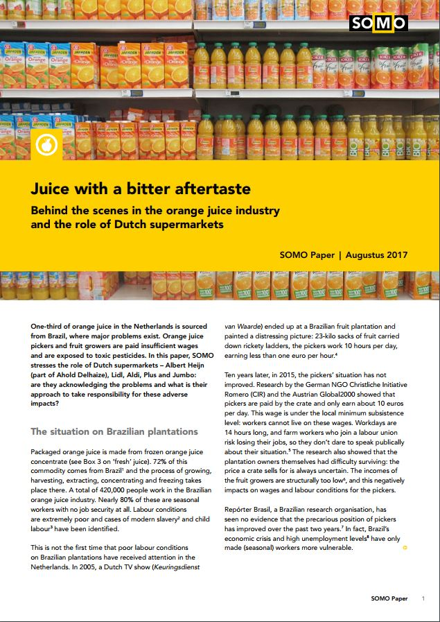 publication cover - Juice with a bitter aftertaste