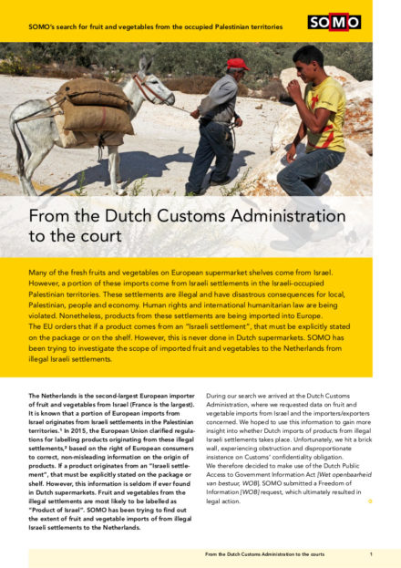 publication cover - From the Dutch Customs Administration to the court