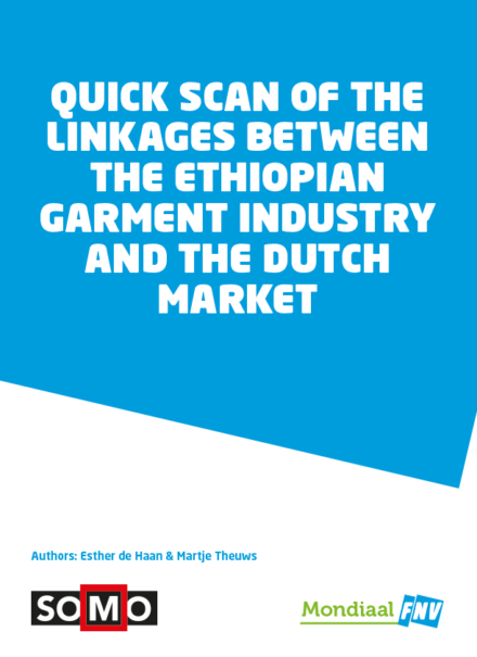 publication cover - Quick scan of the linkages between the Ethiopian garment industry and the Dutch market