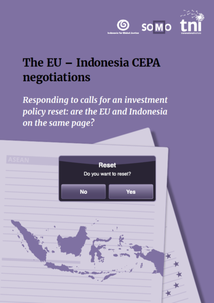 publication cover - The EU-Indonesia CEPA negotiations