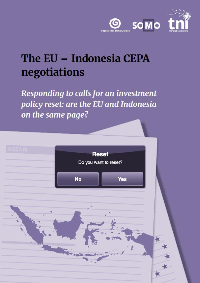 publication cover - The EU-Indonesia CEPA negotiations