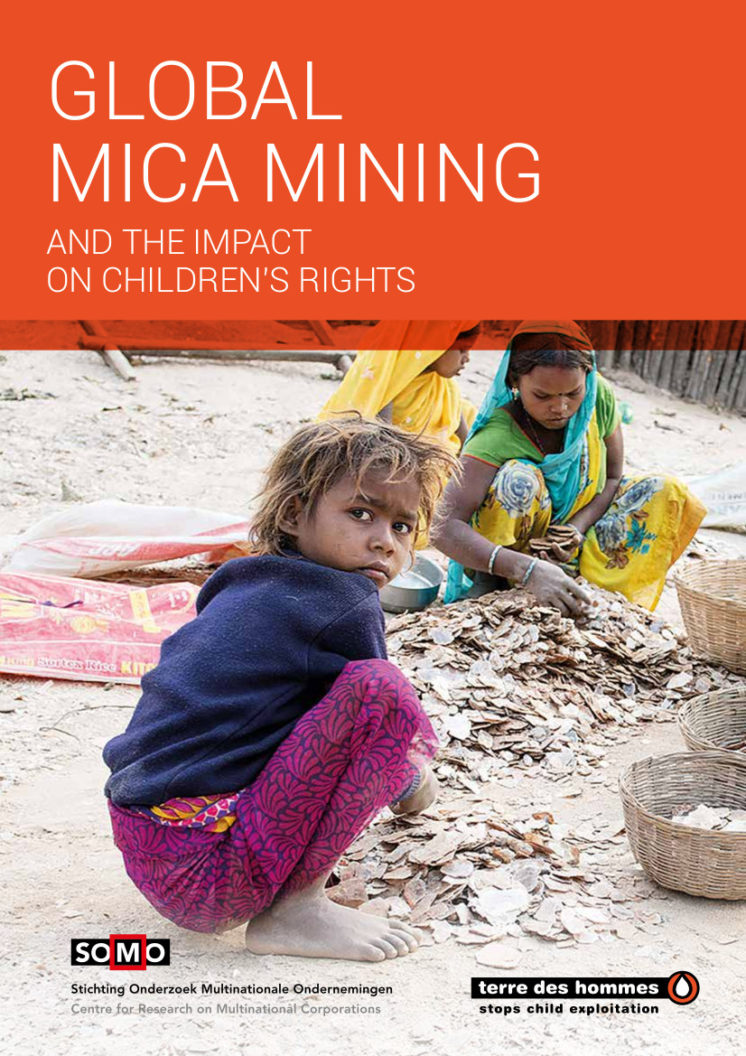 publication cover - Global mica mining and the impact on children's rights