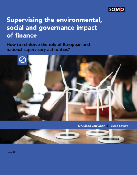 publication cover - Supervising the environmental, social and governance impact of finance