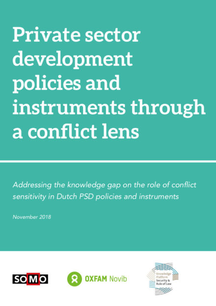 publication cover - Private Sector Development policies and instruments through a conflict lens