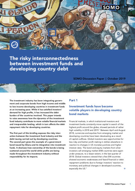 publication cover - The risky interconnectedness between investment funds and developing country debt