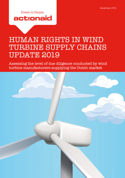 publication cover - Human Rights in Wind Turbine Supply Chains Update 2019
