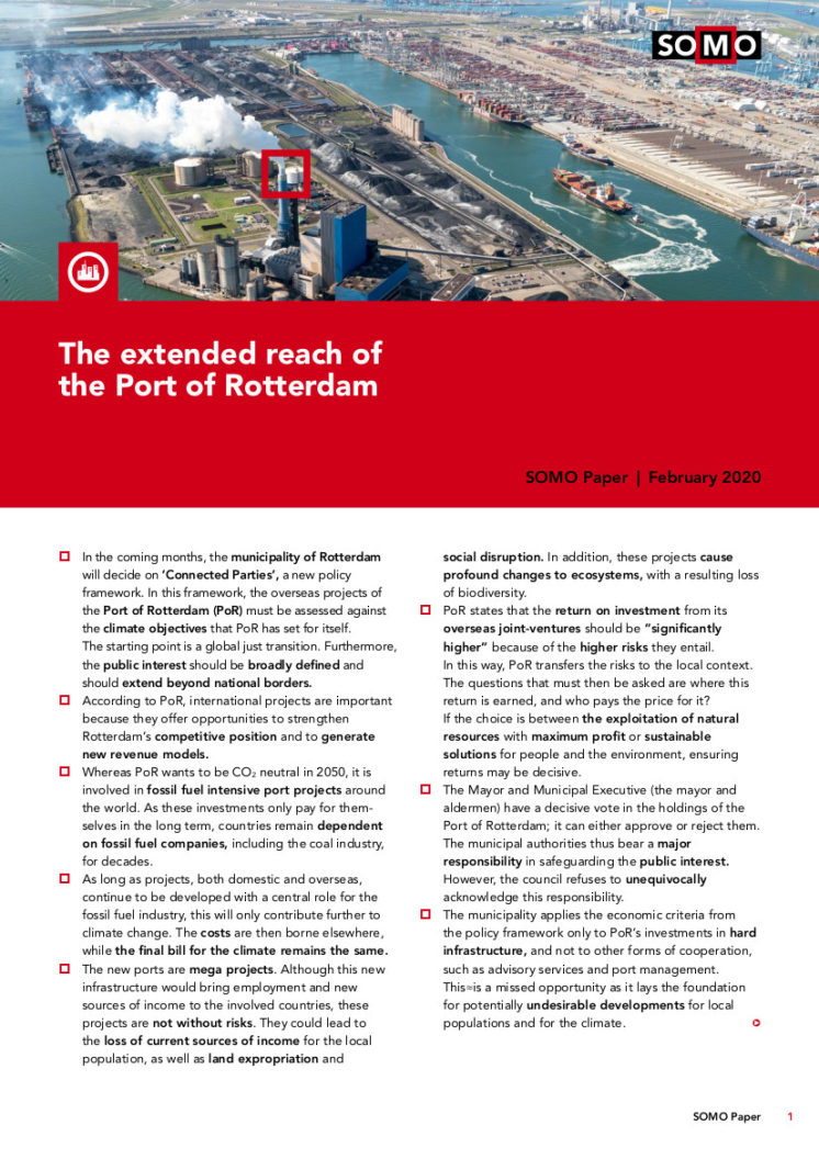publication cover - The far-reaching tentacles of the Port of Rotterdam