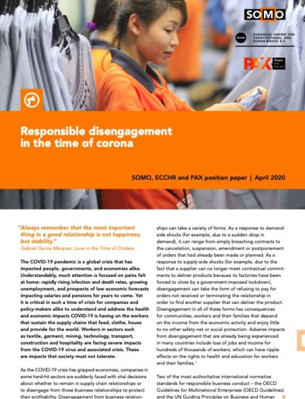 publication cover - Responsible disengagement in the time of corona