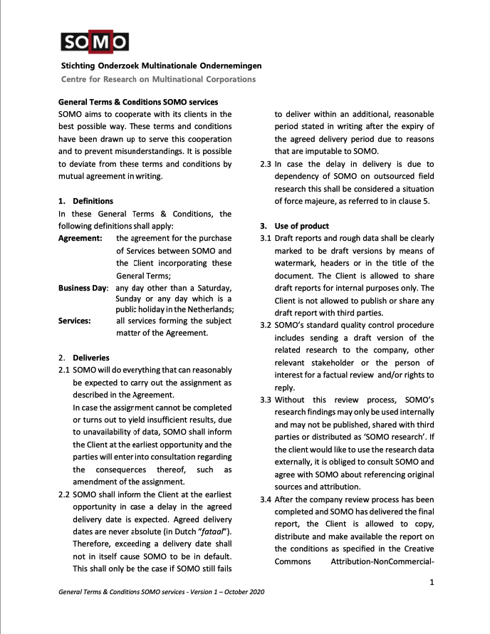 publication cover - Terms and Conditions