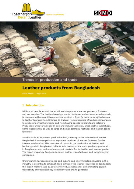 publication cover - Leather products from Bangladesh